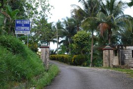 Now free to come and go; the main entrance to Accompong.